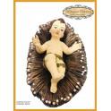 Niño Dios con Pesebre 20 cm