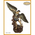 Arcangel San Miguel peto plata 73 cms