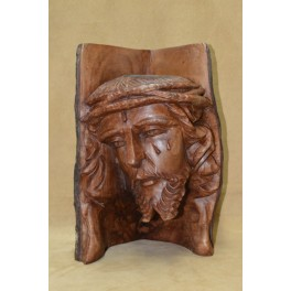 Rostro de Cristo Tallado 34cm