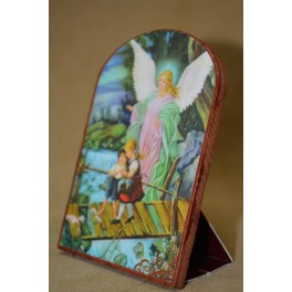 Mini bolo base de cartón Angel de la Guarda 6x9cm